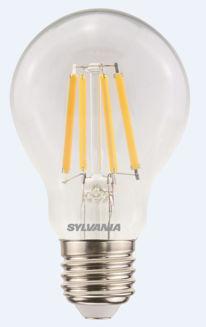 Mynd af LED E27 pera glær frá Sylvania, dimmanleg