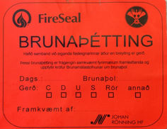 Mynd af Merkimiðar FireSeal