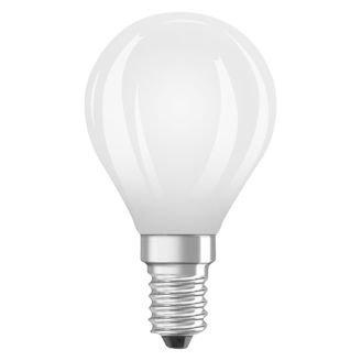 "Mynd af LED-pera E14 ""Kúla"" 4,5W/2700K"