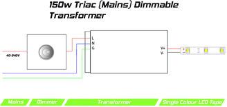 Mynd af Spennubreytir LED 24V 150W DIM