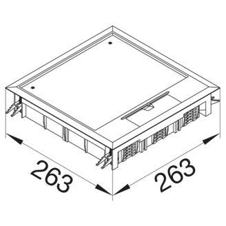 Mynd af Gólfbox Q12 Grátt 12mm