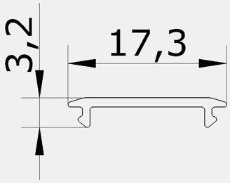 Mynd af Ljóshlíf YT 17,3x3,2x2000mm Sa
