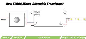 Mynd af Spennubreytir LED 24V  40W DIM