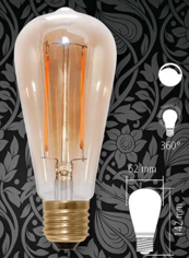 Mynd af Edison Long style LED 400lm 6W