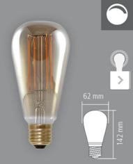 Mynd af Edison Smoky LED 250lm 6W