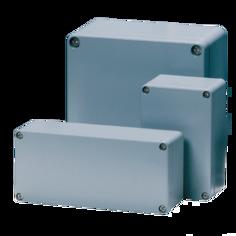Mynd af Box ál grátt IP67 125x124x81mm