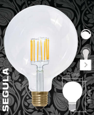 Mynd af Globe125 LED 620lm 8W