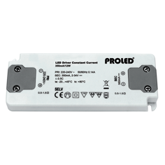 Mynd af LED-spennir 500mA 12W ódimmanlegur - Thin
